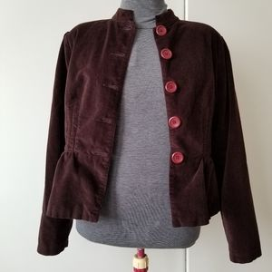 Vintage April Cornell Corduroy Blazer Jacket